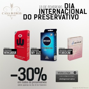 1402 Casa de Eros | Dia internacional do Preservativo produto post