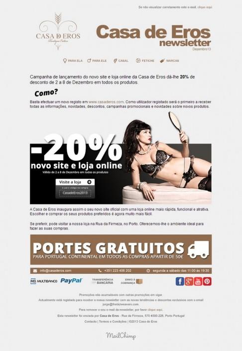 Casa de Eros newsletter n1 layout