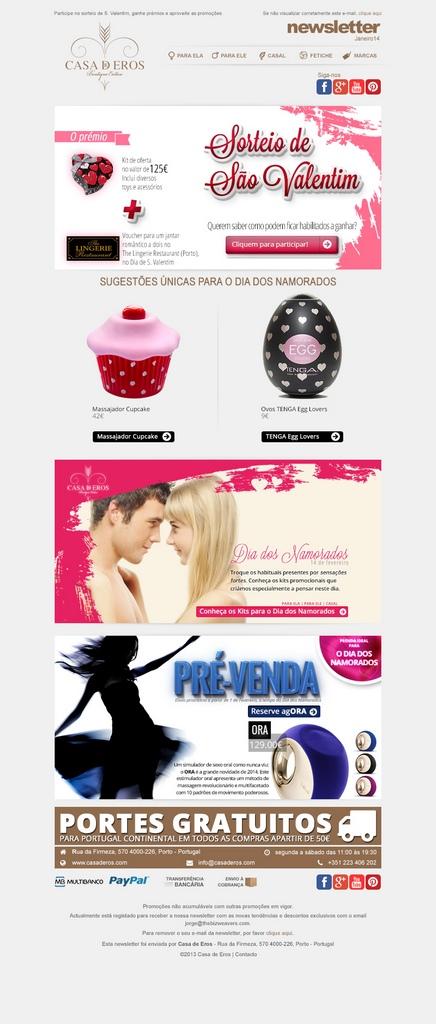 Casa de Eros newsletter n2 layout