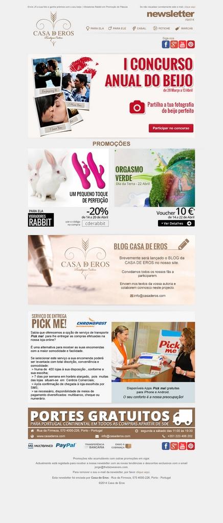 Casa de Eros newsletter n3 layout