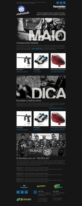 Emboscada Paintball newsletter layout