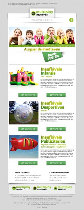 Multiplay newsletter layout