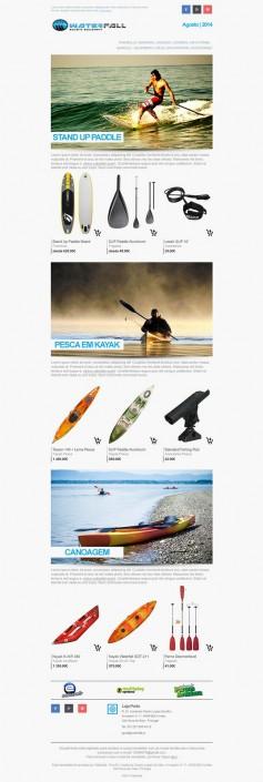 Waterfall newsletter layout