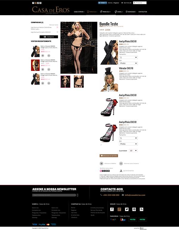 Casa de Eros | Layout página produto composto