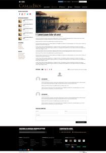 Casa de Eros | Layout página artigo de blog