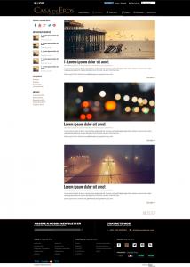 Casa de Eros | Layout página index do blog