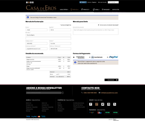 Casa de Eros   Layout página checkout