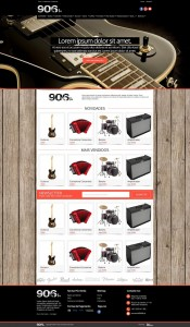 906.pt   Layout Homepage