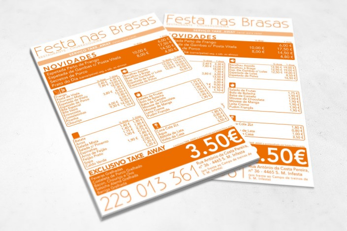 Festa na Brasa - Flyer | mementōs